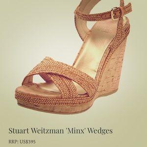 Stuart Weitzman Iconic 'Minx' cork wedges - EU 41